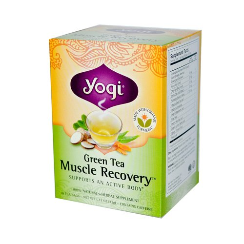 Yogi Muscle Recovery Herbal Tea Green Tea - 16 Tea Bags - Case Of 6 (Tea Green Recovery Muscle)