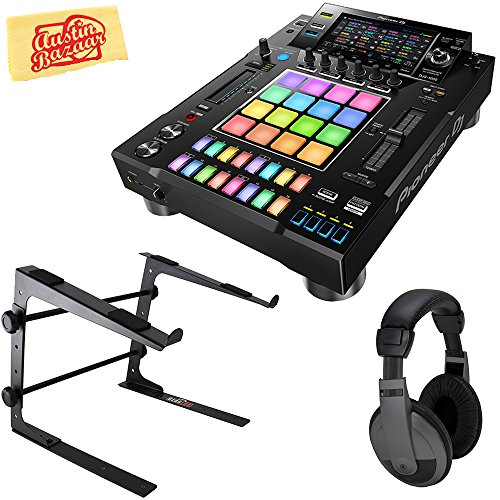 Pioneer DJS-1000 Standalone DJ Sampler Bundle with Stand, Headphones, and Austin Bazaar Polishing Cloth