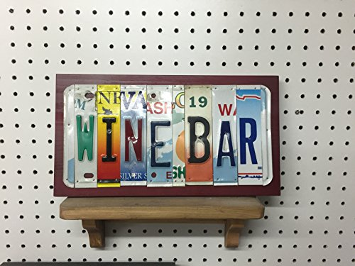 WINE BAR License Plate Letter Sign (Bar Ohana)