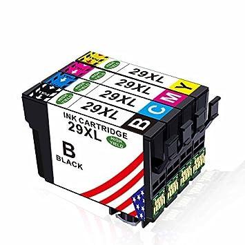 Toner Kingdom 4 Pack (1 set) compatibles Epson 29XL Cartuchos de ...