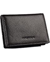 Gent House Women's Genuine Leather Side Load Bifold Business Credit Card Holder Wallet