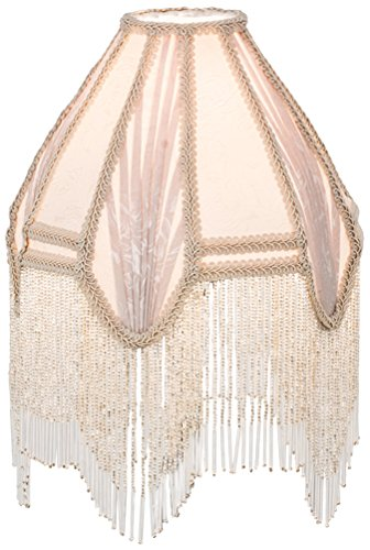 Meyda Tiffany 17515 Fabric & Fringe Arbesque Shade, 10″ W