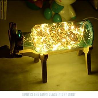 QIAQIA Navidad de Año Nuevo hecha a mano de vidrio de burbujas de luz de los ...