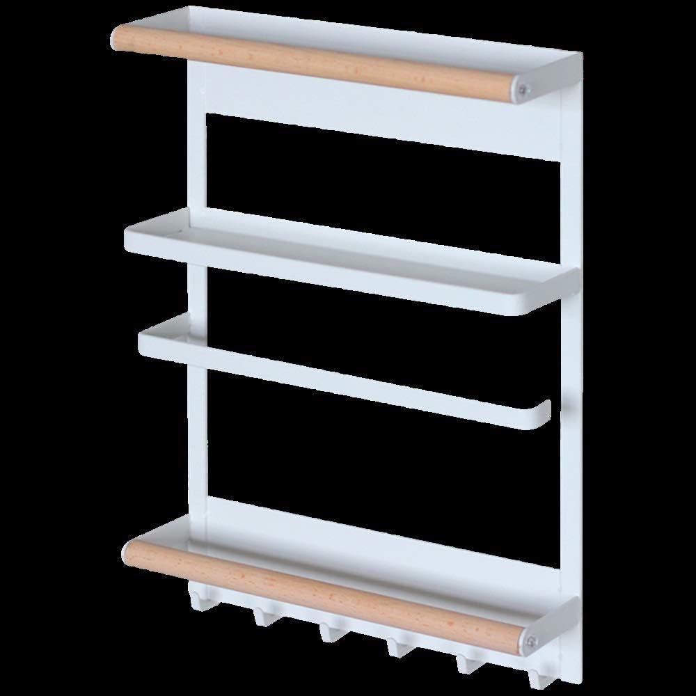 Leneom store Estantería Cocina Toallero en Rack de Estilo Japonés IKEA Nordic Punch Refrigerador Magnético en Arandelas de Suspensión Lateral: Amazon.es: Hogar