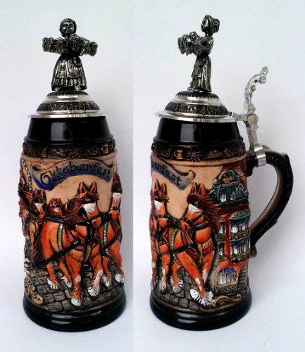 Zoeller and Born Oktoberfest Beer Wagon Stein | 1 Liter (Model (Oktoberfest Beer Wagon)