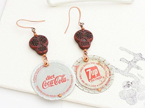 bottle-cap-earrings-diet-coke-and-7-up-ooak