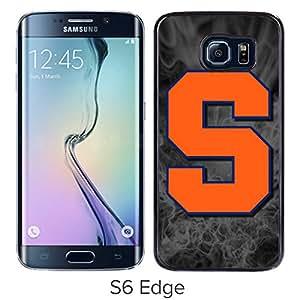 NCAA Syracuse Orange 4 Black Hard Shell Phone Case For Samsung Galaxy S6 Edge G9250