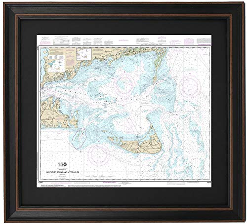 Patriot Gear Company | Framed Nautical Map 13237 : Nantucket Sound, MA- Poster Size