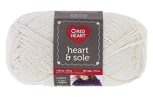 Red Heart & Sole Yarn, Ivory -