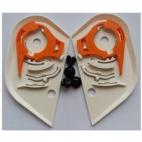ICON HELMET Proshield IC-02 Shield/Visor Pivot Kit, Black/White For AIRFRAME,ALLIANCE,DOMAIN-2 : Bike Racing Motorcycle Helmet Accessories (White)