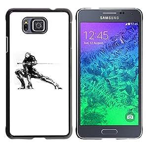 Be Good Phone Accessory // Dura Cáscara cubierta Protectora Caso Carcasa Funda de Protección para Samsung GALAXY ALPHA G850 // Samurai Mech Warrior