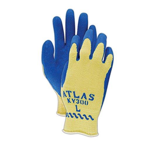 Showa Best KV300-M SHOWA Best Atlas KV300 Kevlar Glove with Latex Palm Coating, Blue , Medium (Pack of 12) by SHOWA (Image #3)