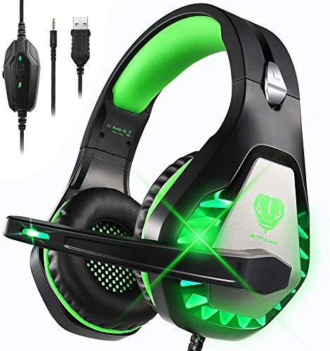 DIWUER Gaming Headphones for PS4, Xbox One, Nintendo Switch, Laptop PC, Stereo Gaming Headset with Microphone Bass…
