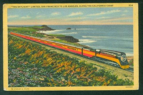 Daylight Limited California Coast San Francisco Passenger Train Postcard CA ()