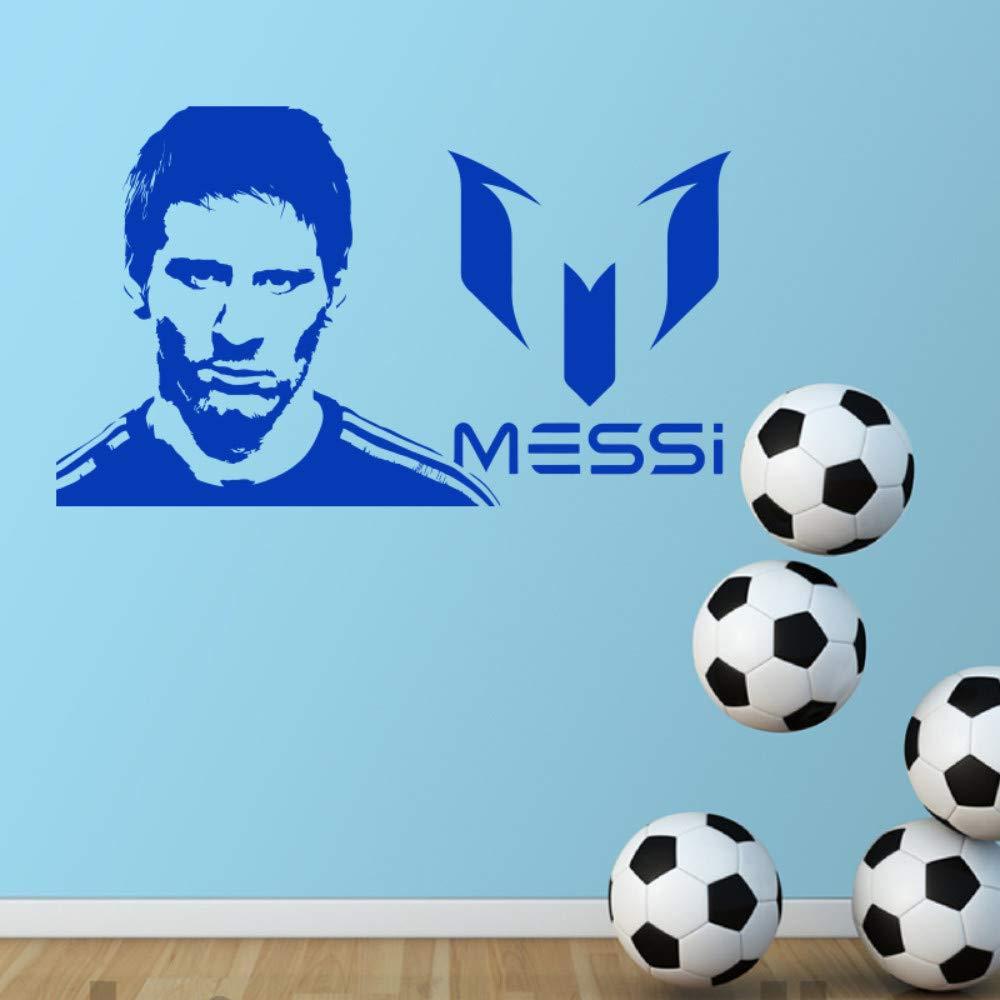 hllhpc Diseño De Arte Lionel Messi Etiqueta De La Pared Decoración ...