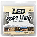 12' LED Rope Light Amber - Christmas Light Indoor/Outdoor by Lights of America