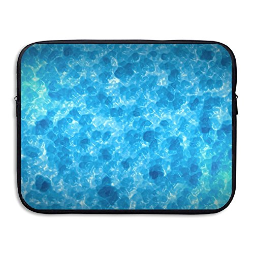 Price comparison product image Ministoeb Abstract Blue Surface Liquid Water Laptop Storage Bag - Portable Waterproof Laptop Case Briefcase Sleeve Bags Cover