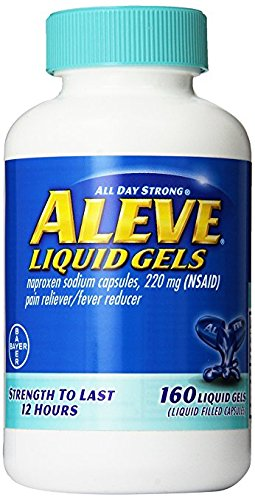 Aleve Liquid Gels, Bulk Size Value 2 Pack ( 160-Count Bottle Each ) by Aleve