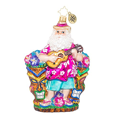 Christopher Radko Ukulele Nick Surf & Sun Christmas Ornament