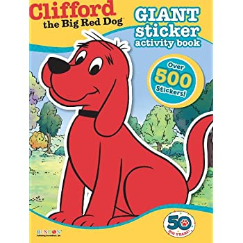 bendon clifford the big red dog giant sticker activity book