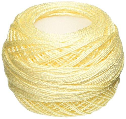 DMC 116 12-3823 Pearl Cotton Thread Balls, Ultra Pale Yellow, Size 12