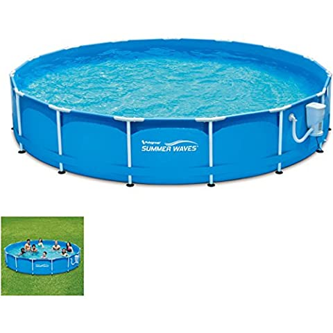 Bestway's 15' Metal Frame Swimming Pool Set - Heritage Pools Round Pool Cover