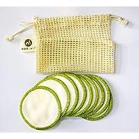 Abschminkpads Waschbar 100% Baumwolle in Grün 10er Set Inkl. Gratis E-buch & Wschenetz aus Baumwolle ⻠Wattepads Wiederverwendbar ⻠Plastikfreie Verpackung - Zero Waste (Grn)