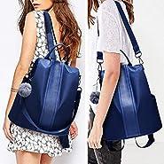 Women Backpack Purse Waterproof Nylon Anti-theft Rucksack Lightweight School Shoulder Bag