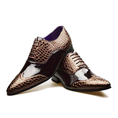 da informale formale Scarpe color 11 Brown stile con 6 uomo fibbia 8 9 inglese marrone 10 7 numero 3 o di dw1xvCq8w