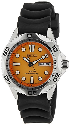 Seiko Men's SNE109 Solar Rubber Strap Watch (Seiko Kinetic Military)