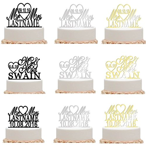 ivisi Personalized Wedding Cake Topper Decoration Anniversary Gift