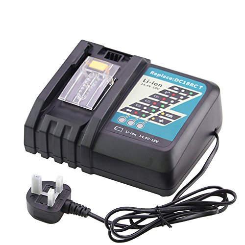 for Makita Charger 18V DC18RC DC18RA DC18SC DC1803 14 4V-18V Lithium-ion  Replacement for Makita Battery Charger BL1815 BL1830 BL1840 BL1850 BL1415