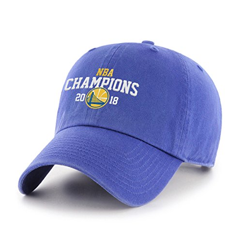 OTS NBA Golden State Warriors Unisex NBA 2018 Champions Challenger Adjustable Hat, Royal, One Size by OTS