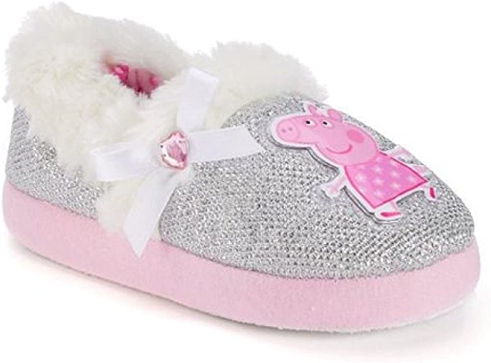 Peppa Pig Toddler Girls' Slippers Size
