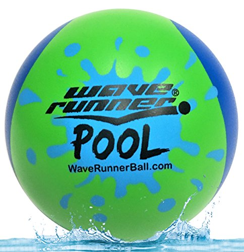 Wave Runner Pool Ball 2 Tone Water Skipping Ball Kids Summer Size Water Bouncing Ball For The Pool Pond Lakes Parks Vacation Summer Spring Bath Games Bulk  Blue Green