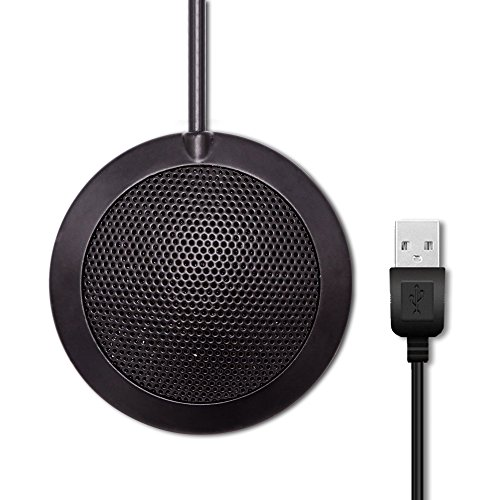 Conference Microphone Boundary Mic Omnidirectional Computer Microphone for Recording,Gaming,Skype,Chatting