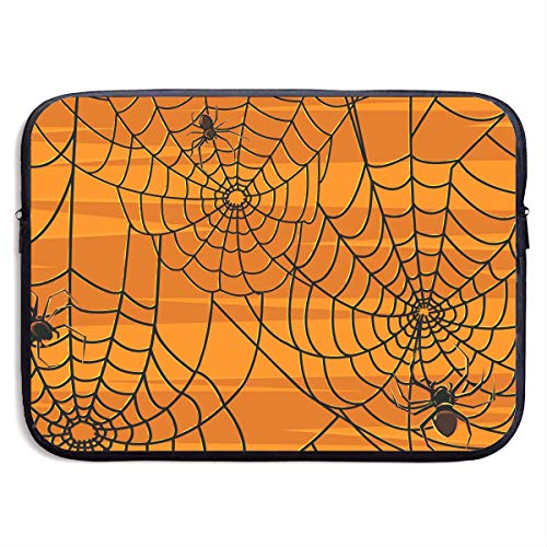 Mouno Neoprene Soft Pouch Cover, Briefcase Carrying Bag, Scary Halloween Spiders Graphics Briefcase Sleeve Bags Cover Notebook Case Waterproof Portable Messenger -