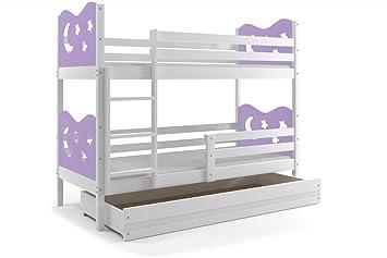 Interbeds Etagenbett : Interbeds etagenbett miko cm in vier farben weiβ grau