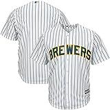 Milwaukee Brewers Blank White Stripe Toddler Cool Base Alternate Replica Jersey