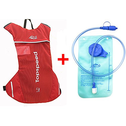 Topspeed Locallion Bicycle Cycling Hydration Packs with 1.5L Bag for Running Climbing Camping Hiking Backpack Water Bladder Light-Weight