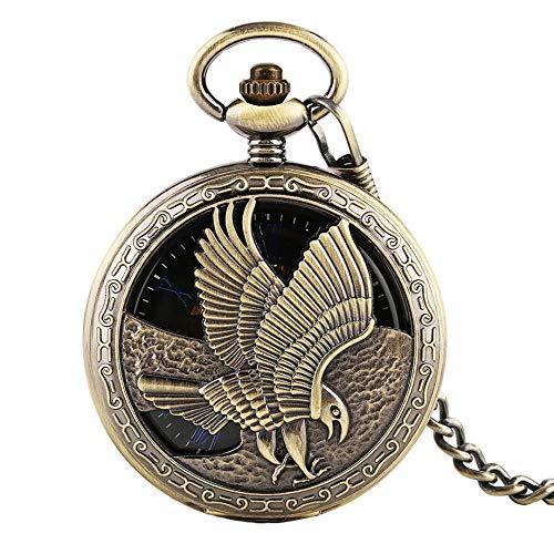 MOLINB Reloj de Bolsillo Hollow Design Eagle Tattoo Reloj de ...