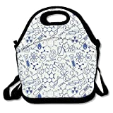 Insulated Neoprene Lunch Bag Reusable Thermal Thick Lunch Tote Bags for Women,Teens,Girls,Kids,Adults-Lunch Box