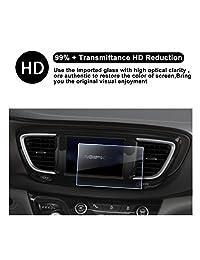 2016 2017 2018 Chrysler Pacifica Uconnect Protector de visualización de navegación, HD Protector de visualización de vidrio templado transparente guardia escudo resistente a los arañazos Ultra HD Claridad extrema
