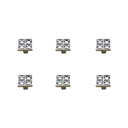10 Unidades FTVOGUE Tiradores de Puertas para armarios de Armario Tiradores Cuadrados de aleaci/ón de Zinc para caj/ón Cuarto de ba/ño armarios de Cocina