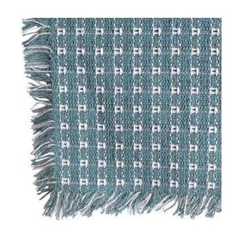 62 X 108 (Rectangle) Homespun Tablecloth, Hand Loomed, 100% Cotton,
