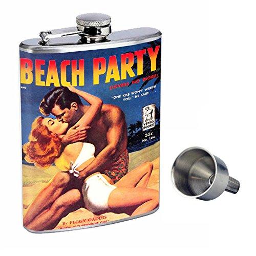 【即納!最大半額!】 Vintage Beach Beach Girls Perfection inスタイル8オンスステンレススチールWhiskey Flask Free with with Free Funnel d-010 B016XLEZ6O, ノダシ:714ce0fe --- kickit.co.ke