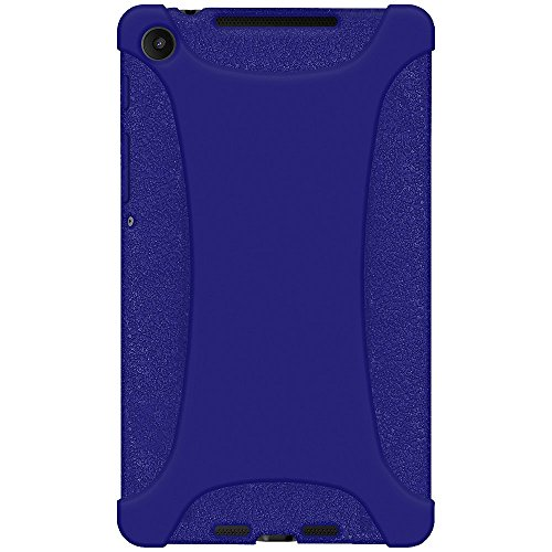 Amzer Silicone Jelly Soft Skin Fit Case Cover for Asus New Nexus 7/Google New Nexus 7, Blue (AMZ96134)