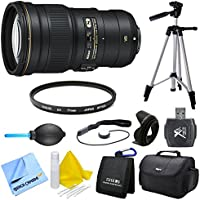 Nikon AF-S NIKKOR 300mm f/4E PF ED VR Bundle - Includes Lens, 77mm UV Protective Filter, 77mm Hard Lens Hood, Compact Deluxe Gadget Bag, Lens Cap Keeper, Hi-Speed SD USB 2.0 Card Reader, and More