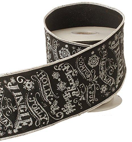 Black Chalkboard Christmas Wording Ribbon product image