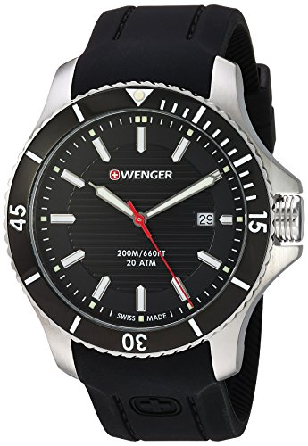 Wenger-Mens-Seaforce-Swiss-Quartz-Stainless-Steel-and-Silicone-Casual-Watch-ColorBlack-Model-010641117